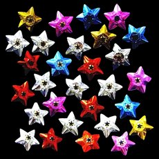 Many Colors of Star-shaped Foil Reflectors for Christmas Lamps