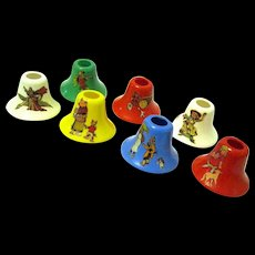 1940's Set of Mother Goose Nursery Rhyme Christmas Light Covers