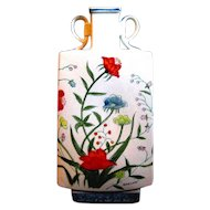 Striking Signed, Hand Painted FLEURS DE CHANTILLY Vintage Vase, Andrea by Sadek