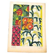 Original Art Deco E.A. Seguy Pochoir Print from Suggestions for Stuffs and Carpets
