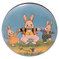 Small Vintage Peter Rabbit Candy Tin, Harrison Cady Art
