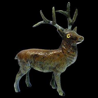 Tiny Vintage Lead Reindeer for Christmas Putz