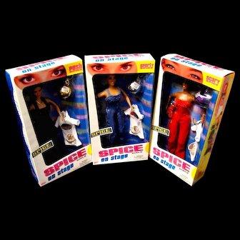 Three Galoob Spice Girls on Stage Dolls, Sealed, MIB