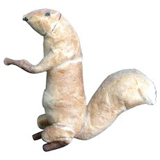 Scarce Victorian Cotton Wool Squirrel Christmas Tree Ornament