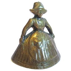 Small Vintage Figural Brass Bell
