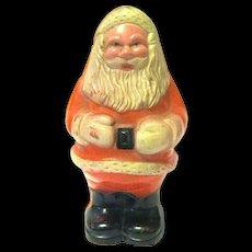 1940's Small Hard Plastic Santa Claus Rattle Marked USA