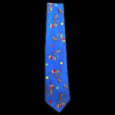 Novelty Dr. Seuss Christmas Necktie uses Grinch's Dog for a Reindeer