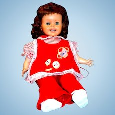 """24"""" Ideal Magic Lips Doll in Red Play Suit, 1950's"""