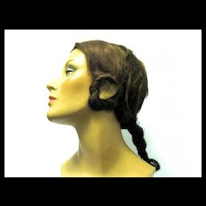Fancy Halloween Wig in Original REAL-FIT Masquerade Wig Box, 1930's