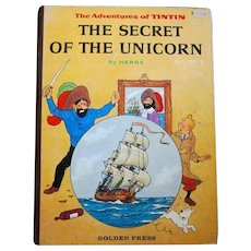 "American 1st Edition of ""The Secret of the Unicorn"", WWII Cartoons by Herge"