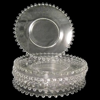 """Eight Imperial Glass 8-1/4"""" CANDLEWICK Luncheon Plates"""