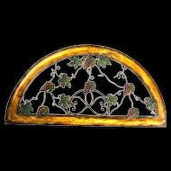 Vintage Demi-Lune Polychromed Wall Architectural Piece
