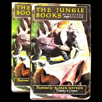 "Rudyard Kipling's ""The Jungle Books"" (Two Volumes), 1948"