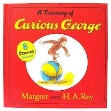 """""""A Treasury of Curious George"""" Book by Margret and H.A. Rey"""