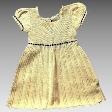 Vintage Hand Crocheted Child's Dress, 1930's