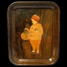 "Original American Artworks Tin Lithographed ""Yama Yama"" Serving Tray, 1903"