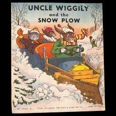 """1939 """"Uncle Wiggily and the Snowplow"""", by Howard R. Garis"""
