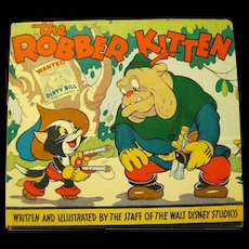 "Rare 1935 Disney Book, ""Robber Kitten"" in Elusive Dust Jacket"