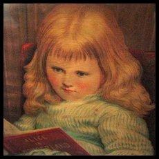 Framed 19th Century Print of Alice in Wonderland