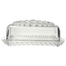 Candlewick Clear Quarter Pound Covered Butter Dish by Imperial Glass