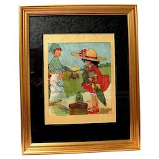 """13"""" x 16"""" Framed Vintage Print by Mabel Lucie Attwell"""