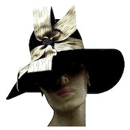 Lady's Vintage Imported Fur Hat in High Style