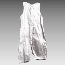 Never Worn Little Boy's White Woven Cotton Undergarment, 1920's