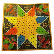 """1937 Deluxe """"Ching Gong Oriental Checker Game Board, Sam'l Gabriel Sons"""