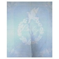 Reversible Vintage Esmond Blue and White Baby or Doll Blanket