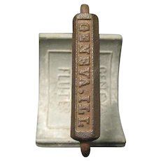 Civil War Era Geneva Hand Fluter, a Crimping Iron for Collar, Cuffs