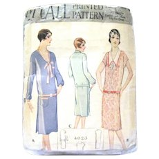Original Late 1920's Lady's Dress Pattern, Complete