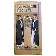 Original Rare 1909 Bryn Mawr Calendar, Jessie Wilcox Smith, Helen Shippen Green, Illustrators
