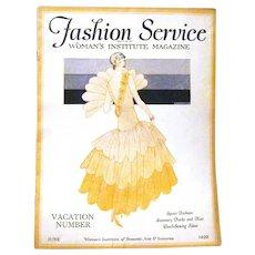 """Woman's Institute Magazine """"Fashion Service"""", June 1929"""