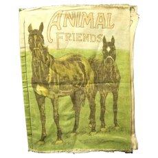 "1915 Saalfield Muslin Child's book, ""Animal Friends"""
