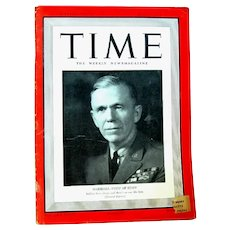 Complete 1940 Time Magazine, George C. Marshall Cover, Battle of Britain Map