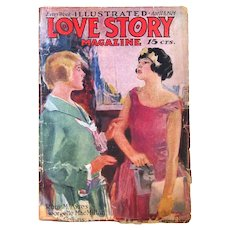 """Illustrated Love Story"", Complete Pulp Magazine from the 1920's"