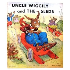 """Uncle Wiggily and the Sleds"", 1939 Soft Cover Book by Howard Garis"