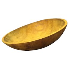 Rustic 19th Century Wooden Dough Bowl
