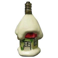 Vintage Milk glass Cottage Christmas Bulb - Works!