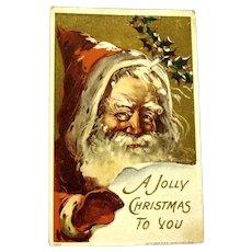 """J. Bien Santa Claus Postcard, """"A Jolly Postcard to You"""", 1906"""