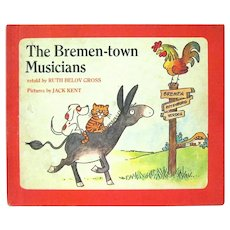 """The Bremen-town Musicians"" Retold by Ruth Belov Gross,Jack Kent Pictures, 1974"