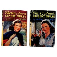 "Two ""Cherry Ames Nurse Series Books"", #1 and #2, by Helen Wells, 1943,  1944"