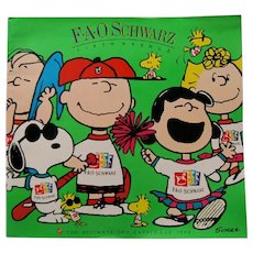 "1990 F.A.O. Schwartz Holiday Toy Catalog with Charles Schulz ""Peanuts"" Gang"