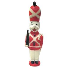 "8-1/2"" Tall British ""Guard"" Dog Squeak Toy, Made in W. Germany"
