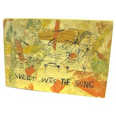 "Book ""Sweet Was the Song"", Ben Shahn, from an Old English Carol"
