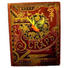 Antique Scrapbook with a Plethora of Victorian Ephemera on 55 Pages