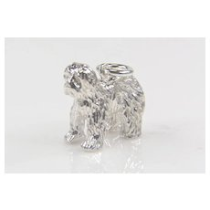 .924 Sterling Silver Sheepdog Charm - Animal Charm - Silver Charms