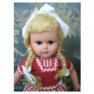 Ratti - Italy -Dutch Girl - Wooden Shoes - Marked on Neck