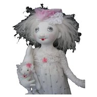 Artist Doll Cloth - OOAK -Skin Wig -