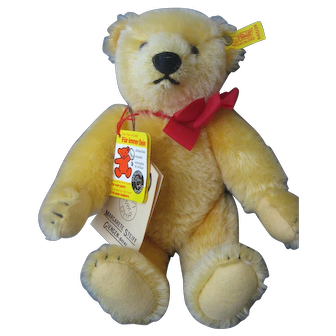 """Steiff Vintage 1909 Replica Bear 10"""" Teddy Bear #0165/28 Made in West Germany - New Condition"""